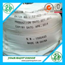 Traitement de l'eau Hexametaphosphate de sodium 68%