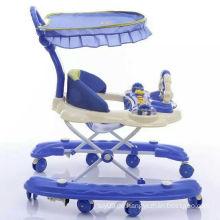 Multifunktionsrunde Baby Walker / Puppe Spielzeug Baby Rolling Walkers / Kunststoff Schwenkrad Baby Wanderer