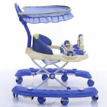 Multi-function round baby walker/doll toy baby rolling walkers/plastic swivel wheel baby walkers