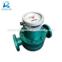Medidor de fluxo de engrenagem oval líquido químico médico