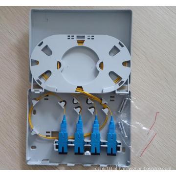 Caixa terminal da fibra da caixa de Sc FTTX da caixa simples do porto FTTX de 4 portos