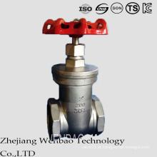 Válvula de porta média de aço inoxidável da moderação da linha fêmea de aço inoxidável do ANSI
