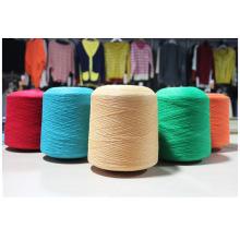Polyester / lin 85/15% Ne 20s fil pour le tricotage et tissage