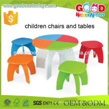 Preescolar Niños Estudio Colorido Multifuncional De Madera De Aprendizaje Mesa Set