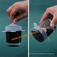 Tampa Eco-Amigável das tampas do copo do silicone do produto comestível