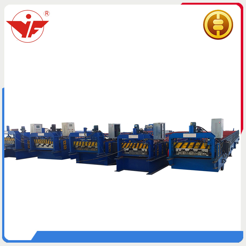 Automatic Metal Decking Floor Roll Forming Machine