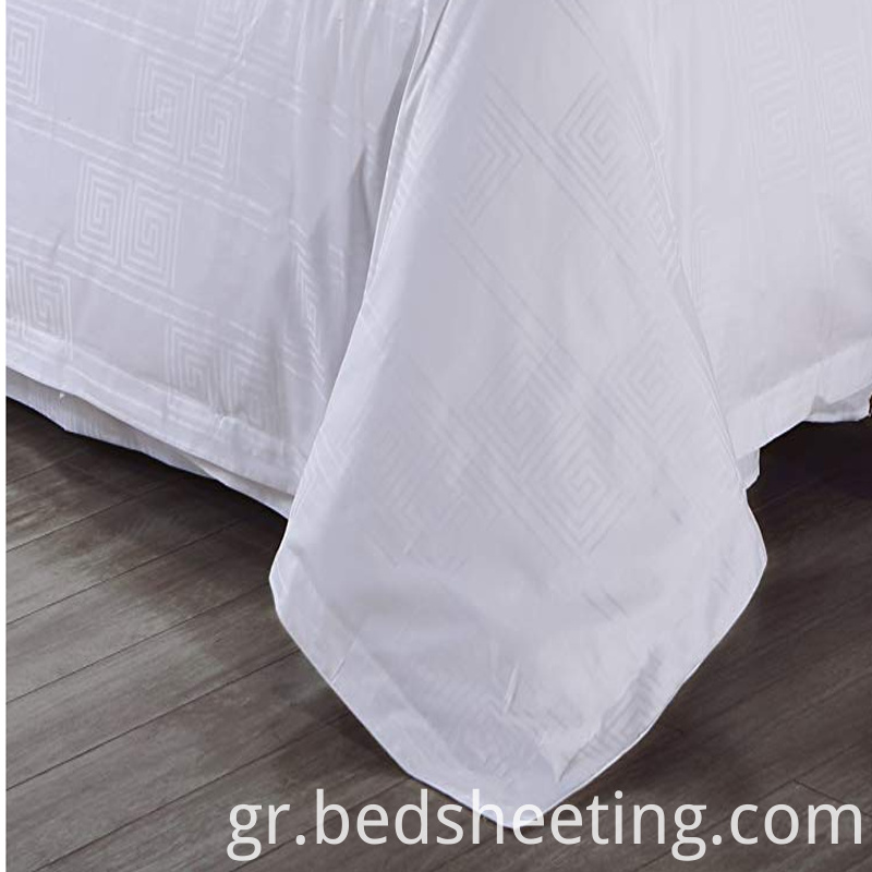 White Polycotton Jacquard Duvet Cover