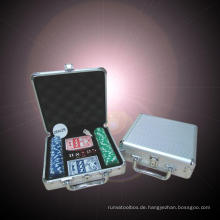 Deluxe 300 Chip Aluminum Poker Chip Case - New! Aluminum Poker Chip Case
