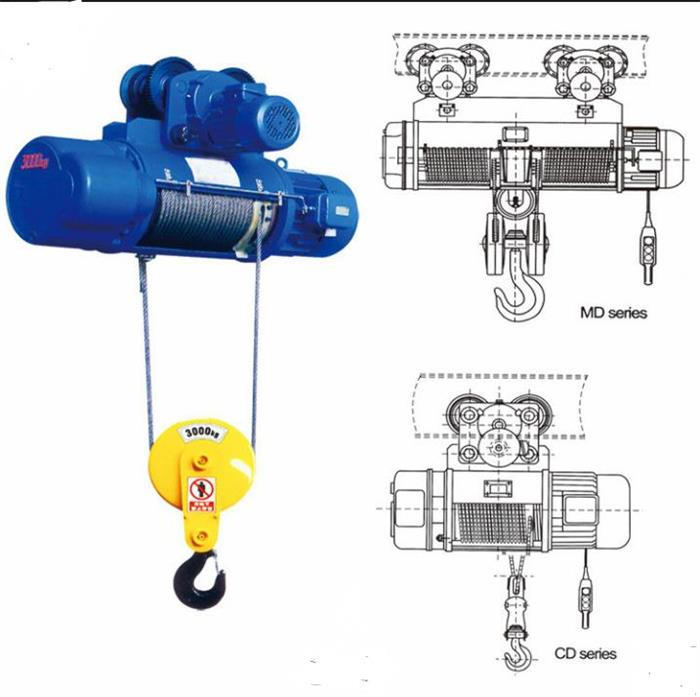 CD electric wire rope hoist