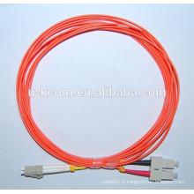 LC-SC MM 62.5 / 125 Cordon de raccordement fibre optique 1M de 3.0MM