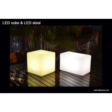 multi color changing/waterproof/ rechargeable rgb led cube