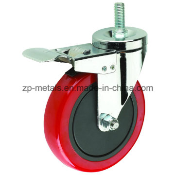 Колесо обозрения для среднеобслуживаемого красного ПВХ с боковым тормозом