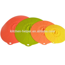 Top Sell Durable Easy-using As Seen On TV Silicone Stretch Lid/Silicone Pot Cover Lid/Silicone Suction Lid