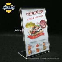 Jinbao acrylique cadre d'affichage de la publicité en gros