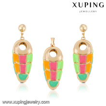 64004 Xuping wholesale african gold plated women jewelry sets