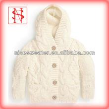nuevo suéter colorbaby sólido suéter con encaje sudadera con capucha