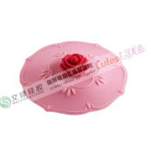 High Temperature Food Grade Silicone Cup Lid Cover Kitchen Cooking Utensils
