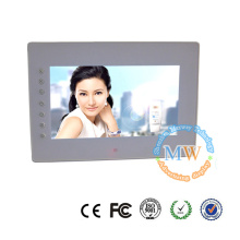 Front buttons 7 inch HD video input to digital frame