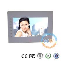Entrada de vídeo frontal botões 7 polegadas HD para moldura digital