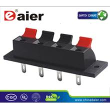 Daier WP4-1 4P Rot & Schwarz Clip Feder Lautsprecherklemmen 4P