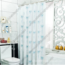 Spring Flower Polyester Shower Curtain PVC\PEVA\EVA