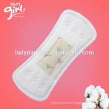 Super soft non woven surface breathable panty liner with tea-polyphenols anion chip suppliers