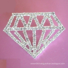 shape diamond button gold pins brooch for Shoulder