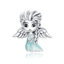 New Design Jewelry Snow Fairy 925 Sterling Silver Charm for Girls