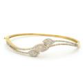 Eye with AAA Cubic Zirconia 925 Bracelet en argent sterling Bijoux