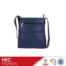 pockets designer great quality leather lady shoulder bag