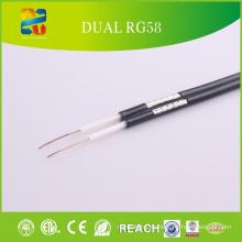 Hochwertiges 50 Ohm Rg58 Dual Koaxialkabel