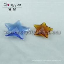 Cristal de forma de estrela colorida de alta qualidade do grânulo