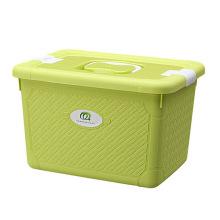 Boîte de rangement en plastique à la mode à tisser avec poignée (SLSN044)