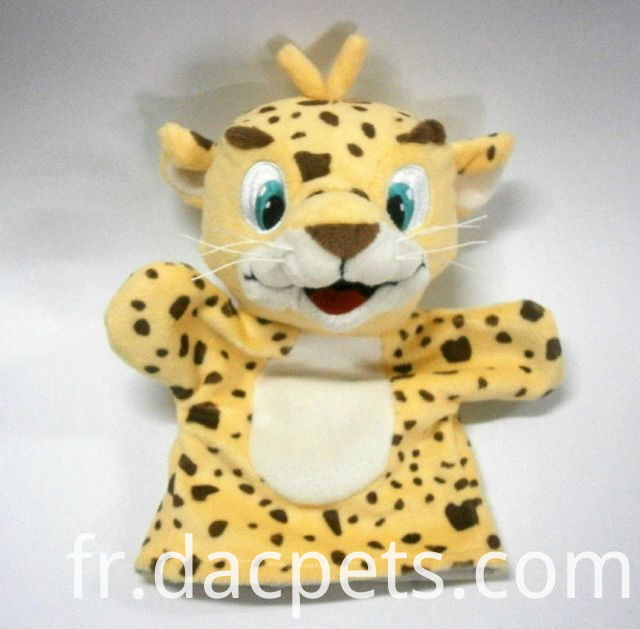 tiger plush hand puppet