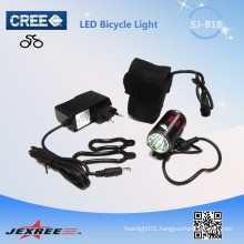 Jexree low price 1*CREE XM-L T6 Angle Eyes rechargeable led bike light/waterproof head light with 18650 battery pack