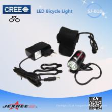 Jexree preço baixo 1 * CREE XM-L T6 ângulo olhos recarregável led luz da bicicleta / cabeça impermeável com bateria 18650