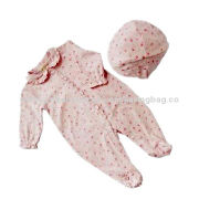 Long-sleeved Babies' Romper, Made of Cotton, Various Stripe Colors AvailableNew