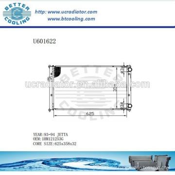 Aluminum Radiator For VOLKSWAGEN Jetta 93-94 1HM121253G