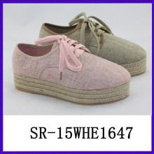 2015 dicke Hanf Sohle Dame handgefertigte Schuhe Designer handgefertigten Schuh handgefertigten Schuh