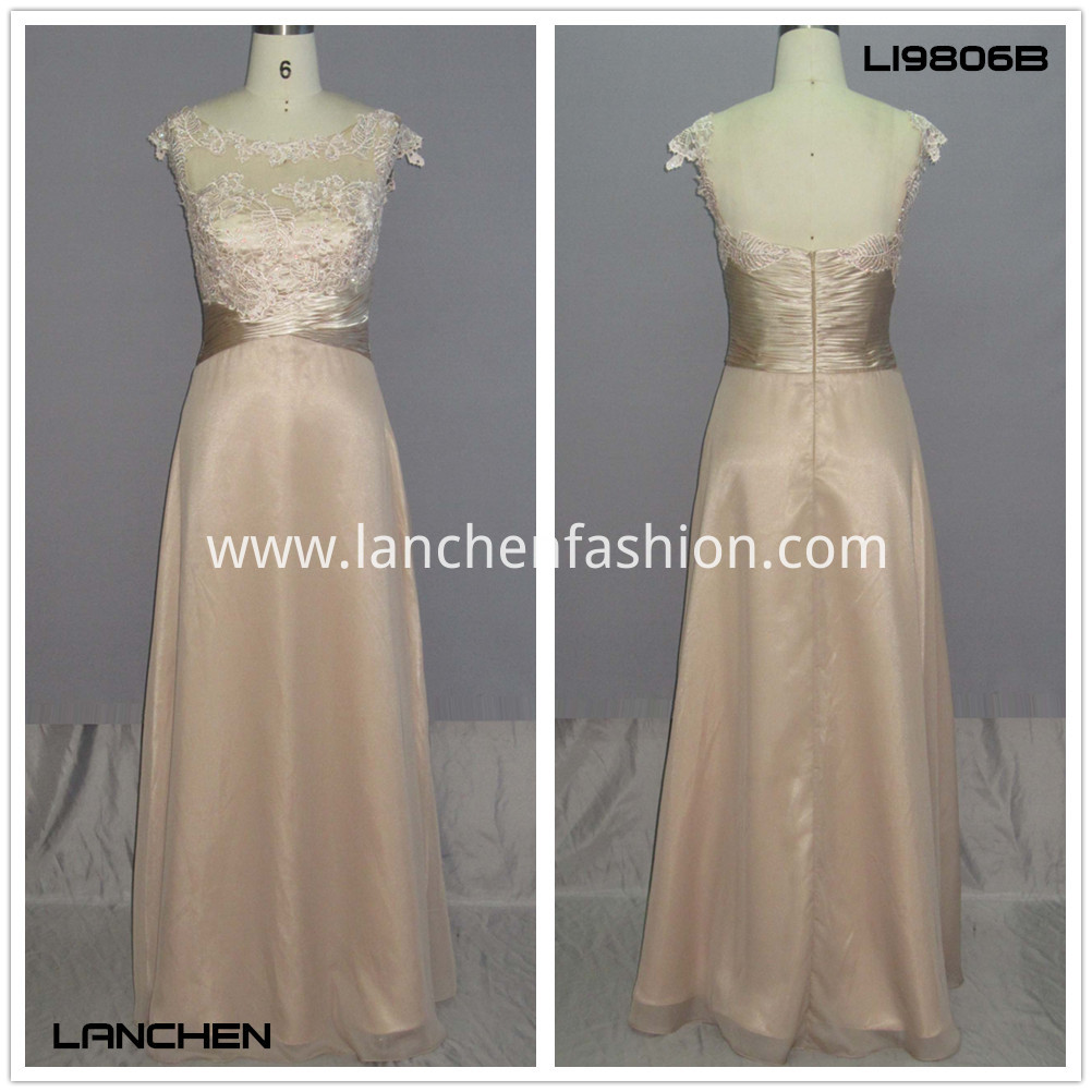 Women's Lace Satin Dress