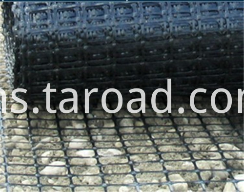 Geosynthetic materials PP biaxial geogrid for retaining wall reinforcement