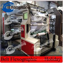 6 cores 1200mm máquina de impressão não tecida da tela (CE)