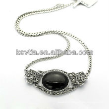 New arrival diamond jewelry expensiver 925 sterling silver necklace