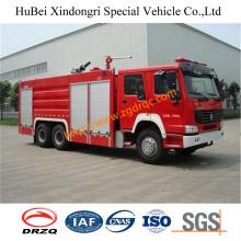 10ton Sinotruk Dry Powder Fire Truck Euro2