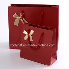 Sacs porte-documents en papier texturés de qualité avec sac en caoutchouc