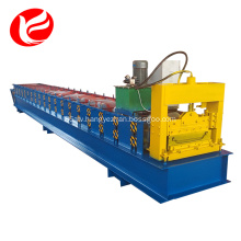 Joint-hidden roof and wall panel roll forming machine
