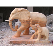 Animal garden sculpture outdoor red sandstone elelphant statue