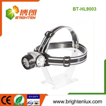 Caza de la fuente de la fábrica 7LED 10LED 12LED 18 LED ABS Materail plástico 3 * AAA llevó la lámpara llevada Headlight de la linterna