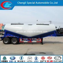 2 Axles Bulk Cement Powder Tank Trailer Gooseneck Cement Truck