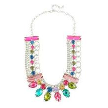 Wholesale 2014 new design colorful acrylic pendant long chain necklace for women, various designs